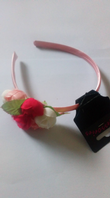 Pink flower alice band (Code 3453)